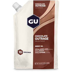 GU Energy Gel Vorratsbeutel 480g Chocolate Outrage